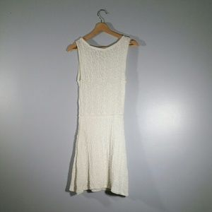 Max Studio White Sleeveless Embroidered Dress Sz S
